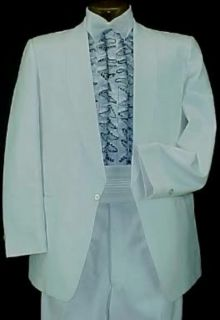 Vintage Miami Vice White Boys Tuxedo Jacket or 4pc Tux Retro Many Sizes