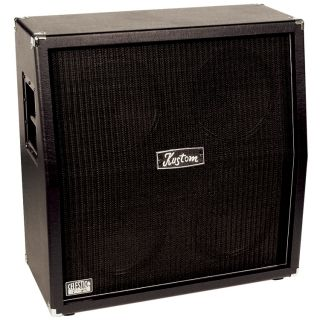 """New Kustom DC412A 412A Slanted Guitar Speaker Cabinet with Quad 4 x 12"""" Speakers"""