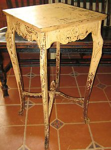Antique Victorian Plant Stand Small Parlor Fern Table Aesthetic Acanthus Carved