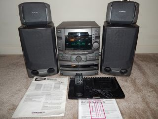 Pioneer Shelf Stereo System w 25 Disc CD Changer Am FM Radio 4 Speakers Aux