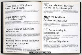 USS Ticonderoga CG 47 1986 Mediterranean Cruise Book