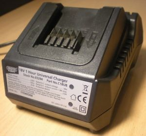 Draper Expert 18V 1 Hour Universal Battery Charger Cordless Drill DIY Power Tool