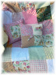 Vintage Wizard oz Rainbow Chenille Baby Quilt Bedding