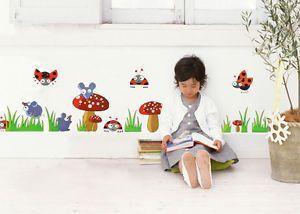 Ladybug Floral Vinyl Removable DIY Child Kid Room Decor Wall Sticker Decal Mural