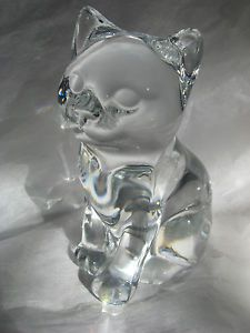 Princess House Collectible Retired Crystal Kitten Kitty Cat Katrina Figurine