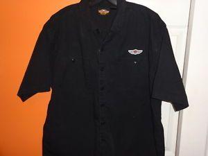 Harley Davidson Mens Short Sleeve Button Shirt