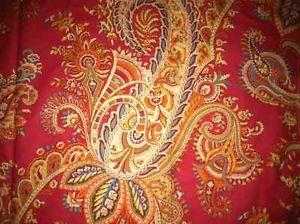 Ralph Lauren Red Paisley Floral Queen 4 Piece Comforter Set Brand New Look