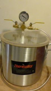 4 Gal Vacuum Chamber Stabilizing Liquid Extractor Degassing BHO Kit Purge Oil