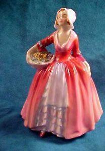 "Royal Doulton Bone China Lady Figurine ""Janet""1937 Retired Signed Original See"