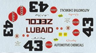 43 A J Foyt Zecol Lubaid 1963 4 Ford 1 24th 1 25th Scale Waterslide Decal