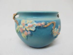 Vintage Roseville Pottery 300 4 Apple Blossom Bean Pot Planter Vase