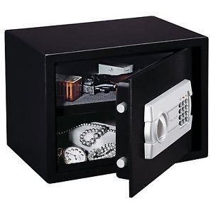 1 Black Electronic Key Pad Hand Gun Pistol Jewelry Vault Box Personal Home Safe
