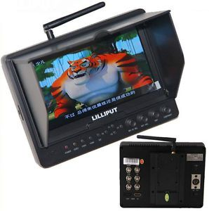 """Lilliput 665FPV 7"""" TFT LCD Screen Aerial Photography 5 8GHz Wireless Monitor 5D2"""