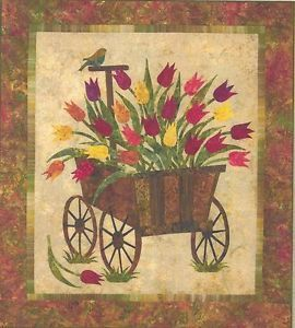 Spring Wagon Applique Quilt Pattern by Edyta Sitar of Laundry Basket Quilts