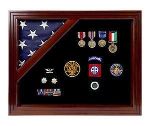 Military Shadow Box Medal Coin Ribbon Display Case 4