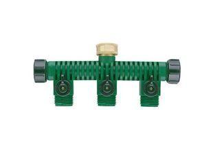 Orbit 5 Port Garden Hose Splitter Faucet Manifold Water Shut Off Valves 62009N