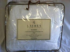 Ralph Lauren Classic Luxury Extra Warm Down Comforter Full Queen Sz Hypoallergen