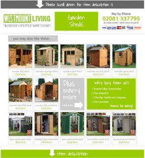 New 7x7 7x7ft 7 x 7 ft Shiplap T G Wooden Corner Shed Garden Storage