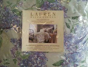 Ralph Lauren Cape Elizabeth Full Queen Reversible Comforter Set Lavander Lilacs