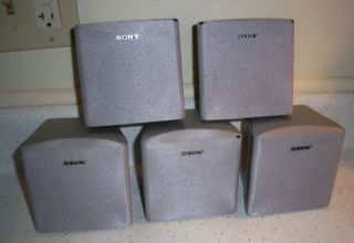 5 Sony Home Theatre Speakers Model SSMSP66 Front Surround Center Speakers Silver
