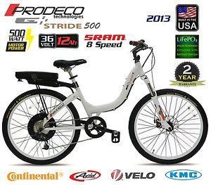 2013 Prodeco Tech Stride 500 36V 500W 12AH LiFePO4 Electric Bicycle Bike EBike