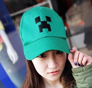 Minecraft Creeper Character Plush Hat Stuffed Animal Doll Green Monster