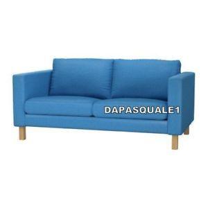 Enjoyable Ikea Karlstad Slipcover Loveseat Sofa Korndal Blue Evergreenethics Interior Chair Design Evergreenethicsorg