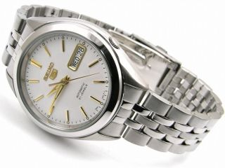 Seiko 5 Silver Dial Automatic 21 Jewels Men's SNKL17 with Box and Warranty