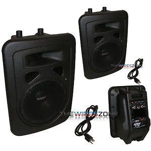 "Earthquake Sound DJ 8M 2 Way Powered 480W 8"" PA Monitor Speaker System Pair"