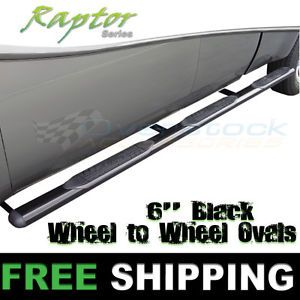 """2000 Current Ford F 350 Crew Cab 8ft Long Bed Raptor 6"""" inch Black W2W Nerf Bars"""