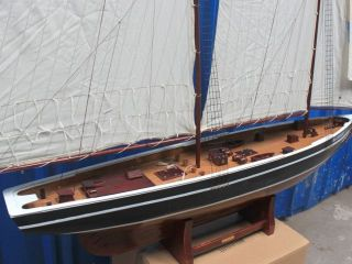"Bluenose 80"" Tall Sailboat Wooden Vintage Model SHIP Sailboat Decor"