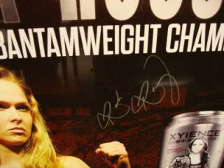 Hand Signed Ronda Rousey Poster UFC Armbarnation Xyience Limited Edition