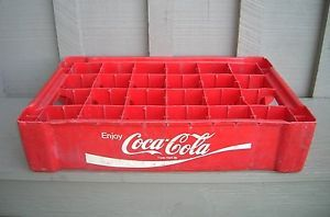 Old Vintage Plastic Coca Cola Coke Soda Bottle Crate Slots 24 Bottles Carrier R