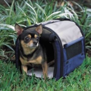 New Petmate Mini Small Dog Portable Pet Home Carrier Blue Carry Case Taxi Crate