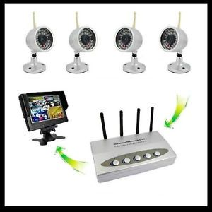 Weather Proof Wireless Security Camera System DVR Infrared Surveillance