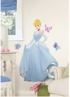 "Disney Princess Cinderella Giant Wall Sticker Decal 30"" Mural by RoomMates"