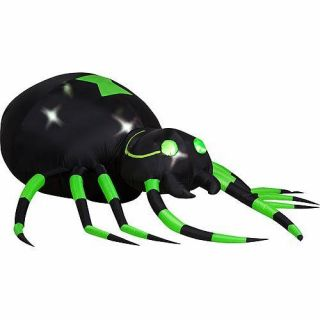 Halloween inflatable globes on popscreen for Animated spider halloween decoration