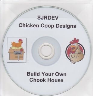 Chicken Coop Hen House Plans on CD Fowl Turkey Poultry Self Sufficiency Organic