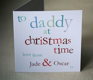 personalised daddy christmas card by molly moo designs