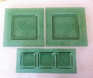 World Tableware Green Glacier Glass Sushi Plates Set of 3