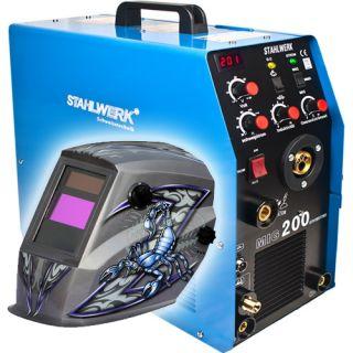 Combo Stahlwerk MIG 200 TIG MMA Inverter Welding Machine 4214A Welding Helmet
