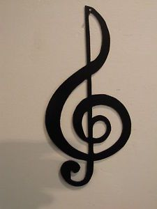 Treble Clef Musical Note Music Metal Wall Art Decor