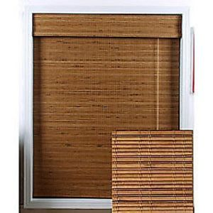 New Beautiful Bamboo Roman Natural Wood Window Shade Home 21 in x 74 in Blinds