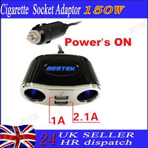 Universal USB Car Power Socket Charger Adapter