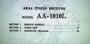 Akai AA 1010L FM LW Am St Receiver Service Manual Inc Schematics PCBS Book Eng