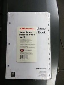 office depot telephone address book refill 160 998 852 003 651 606