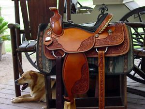 Crates Team Roping Mike Beers Special Edition Top End Built Saddle