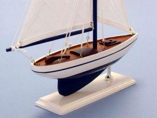 "Pacific Sailer 17"" White Sails Antique Sailboat Model Yacht Models Decor Nauti"