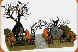 Haunted Front Yard Halloween New Department Dept 56 Snow Village D56 SV