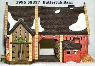Butter Tub Barn UTube New Department Dept 56 Dickens Village D56 DV